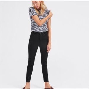 Everlane High Rise Ankle Black Skinny Jeans 25R